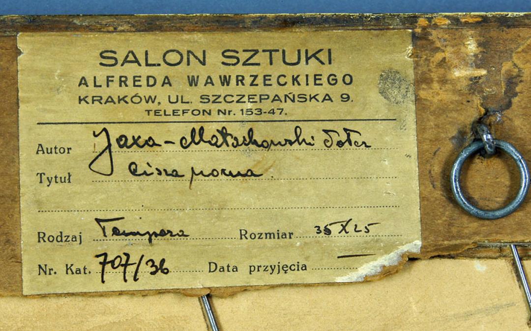 PRZEDWOJENNE ANTYKWARIATY: Salon Sztuki Alfreda Wawrzeckiego