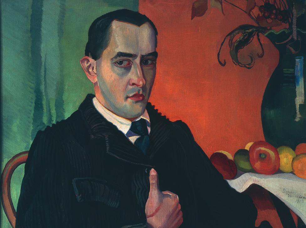 Autoportret Stanisława Ignacego Witkiewicza z 1913 roku, źródło: Muzeum Narodowe w Warszawie