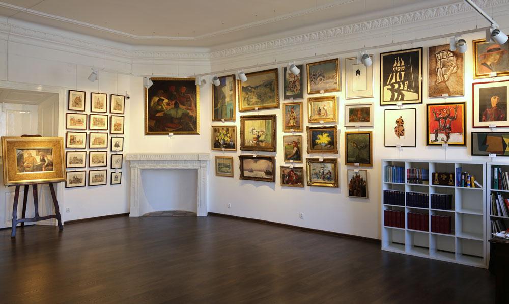 Wnętrze Salonu Dzieł Sztuki Connaisseur w Krakowie.
