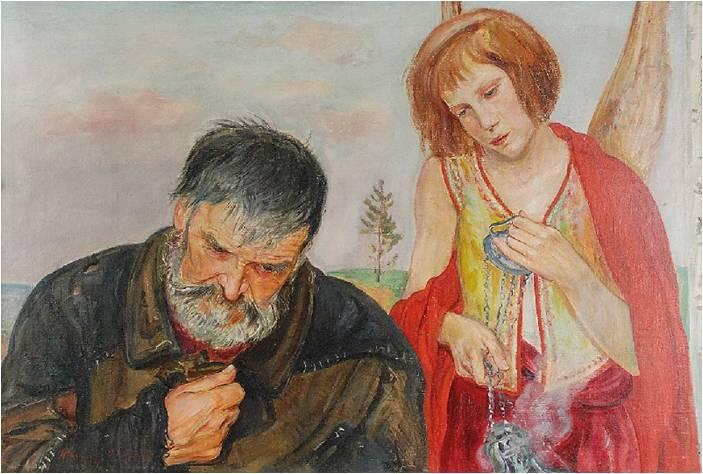 """Wlastimil Hofman (1881-1970) """"Modlitwa"""", SPRZEDAŻ: 32 000 zł, źródło: Rempex"""