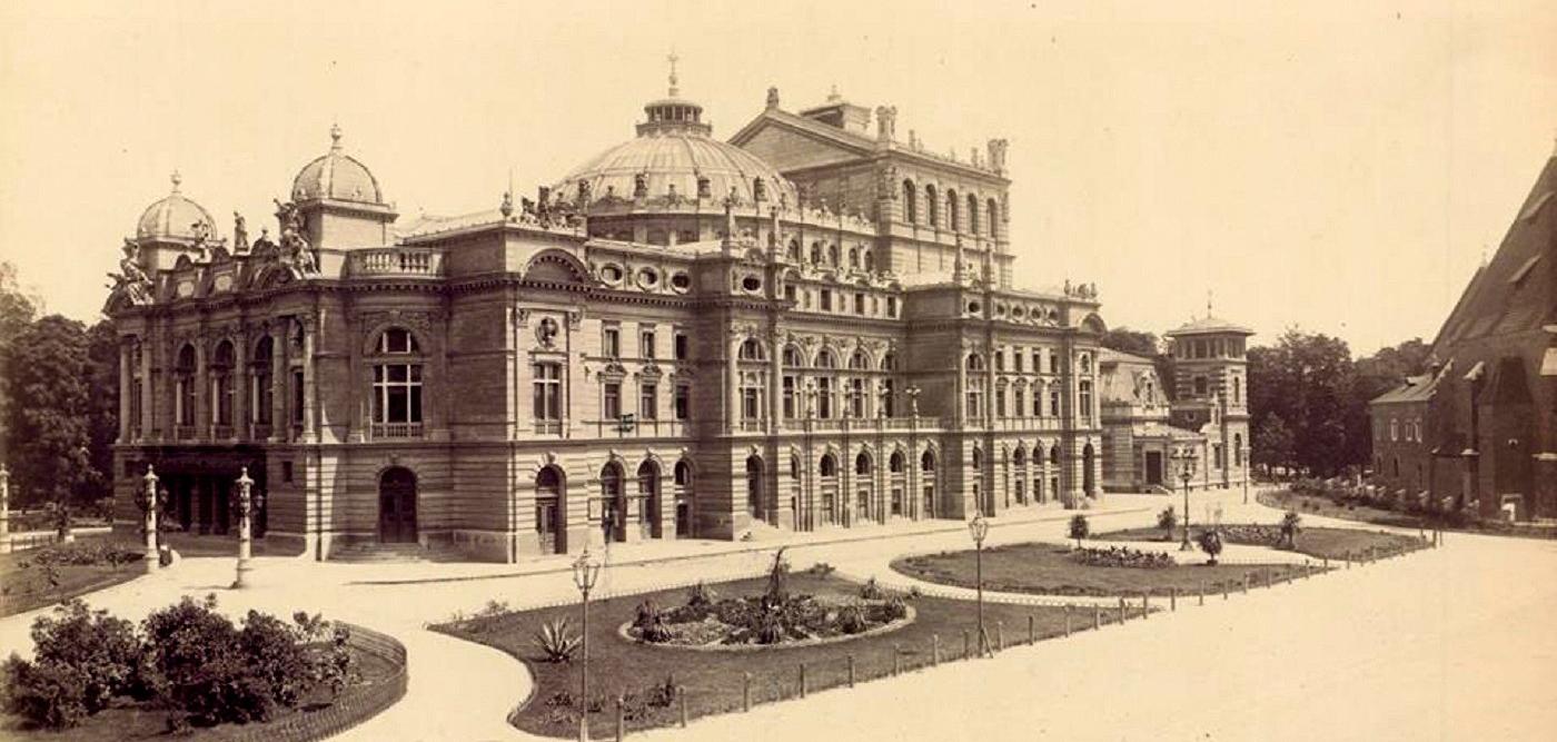 Teatr Miejski (obecnie Teatr im. J. Słowackiego), 1898 rok, źródło: Archiwum Narodowe w Krakowie