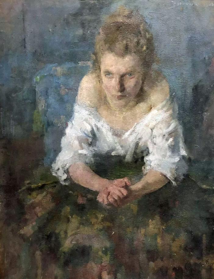 """Olga Boznańska (1865-1940) """"Dziewczyna w białej bluzce"""", źródło: Valerie Regis"""