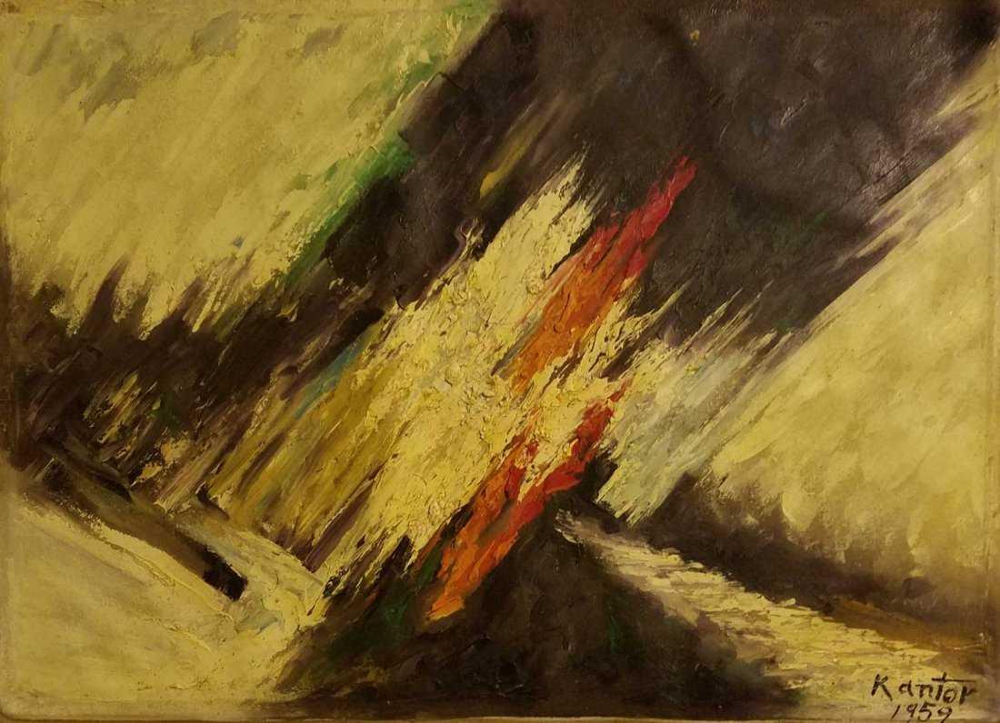"""Tadeusz Kantor (1915-1990) """"Abstrakcja"""", źródło: Andrew Auctions"""