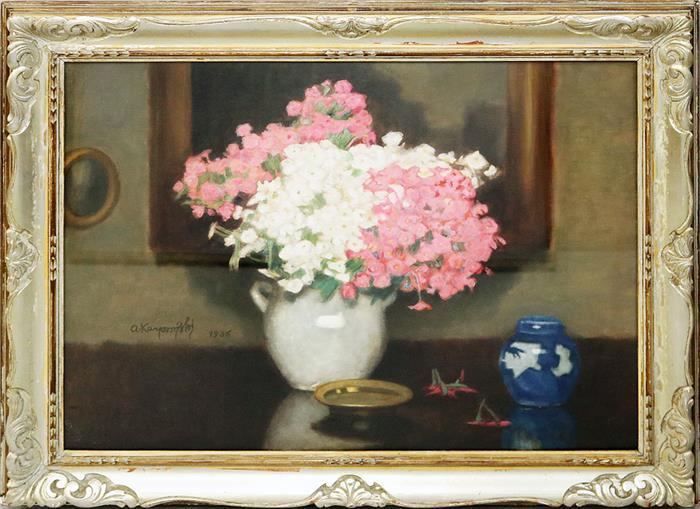 """Alfons Karpiński (1875-1961) """"Martwa natura z bukietem kwiatów"""", źródło: Auktionshaus Dannenberg"""