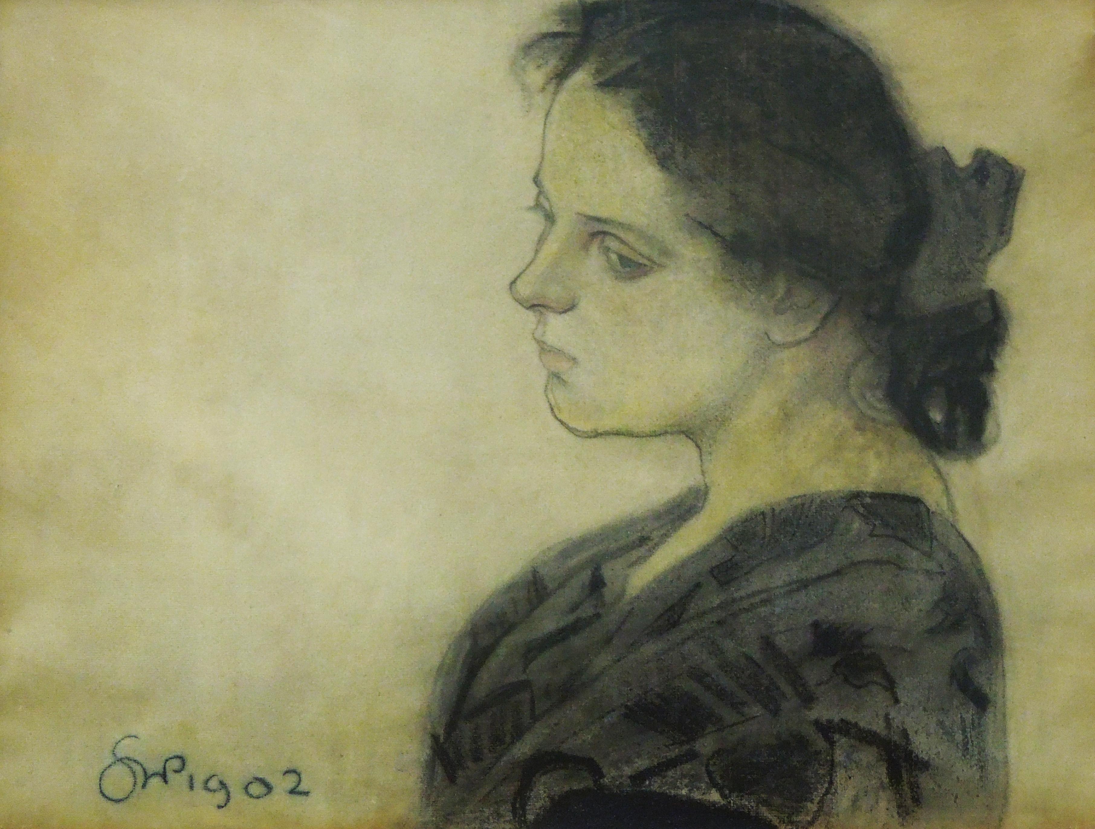 """Stanisław Wyspiański """"Portet Marii Pareńskiej"""", 1902 rok, źródło: Muzeum Lubelskie w Lublinie"""