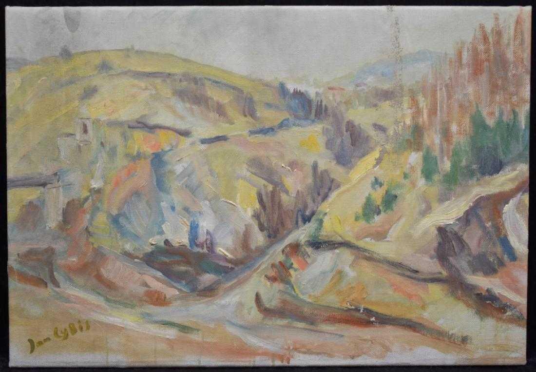 """Jan Cybis (1897-1972) """"Pejzaż postimpresjonistyczny"""", źródło: JD's Auctions"""