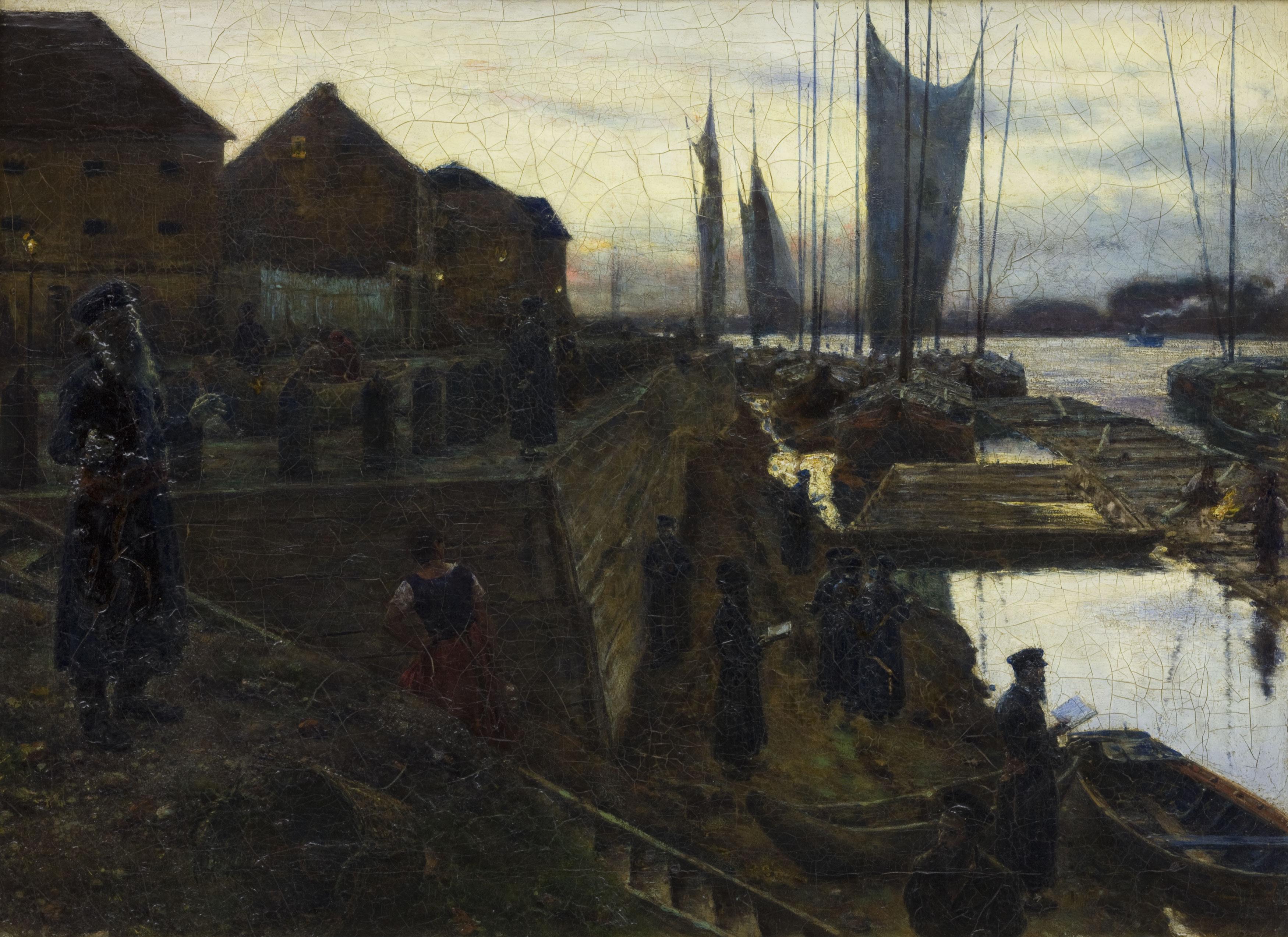 """Aleksander Gierymski """"Święto Trąbek III"""", 1890 rok, źródło: Muzeum Narodowe w Krakowie"""