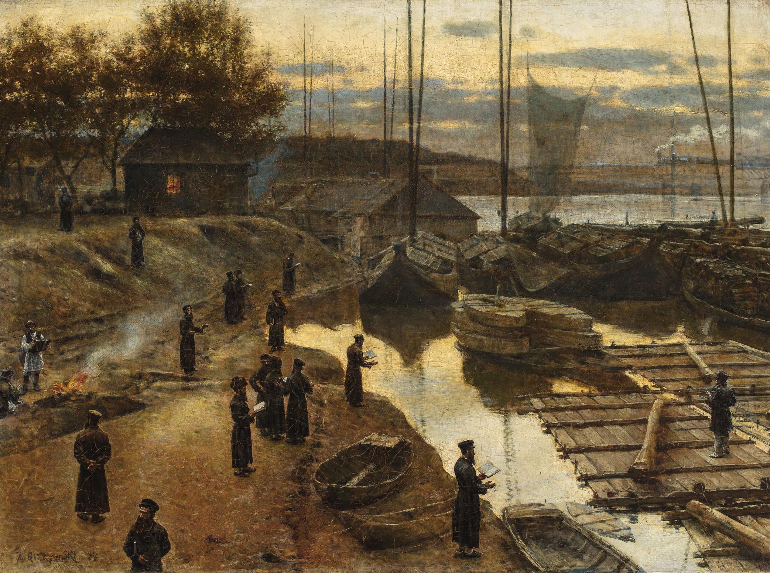 """Aleksander Gierymski """"Święto Trąbek"""", 1884 rok, źródło: Muzeum Narodowe w Warszawie"""