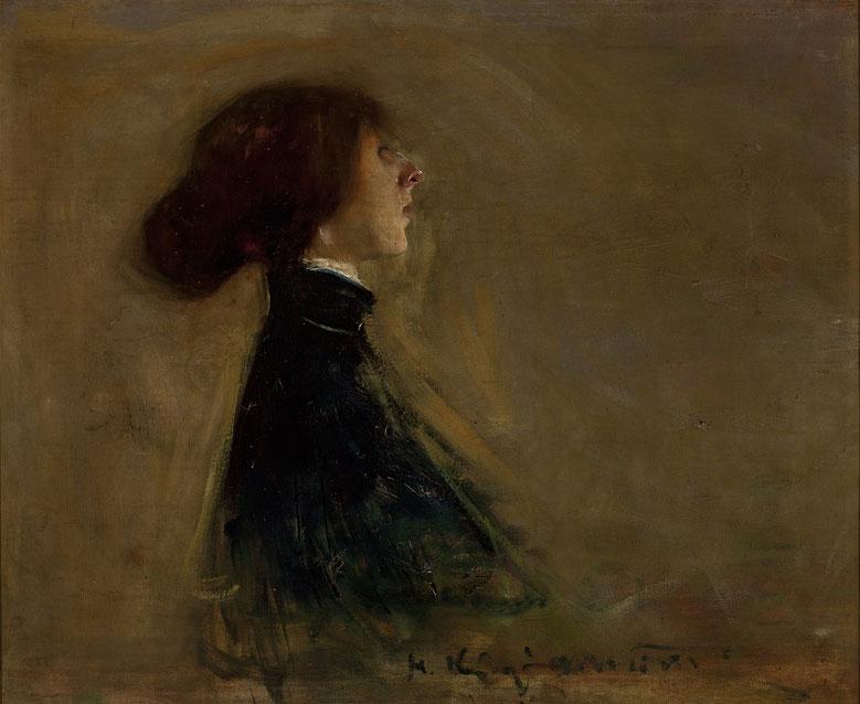 """Konrad Krzyżanowski """"Portret Bronisławy Ostrowskiej"""", 1901 rok, źródło:Muzeum Narodowe w Warszawie"""