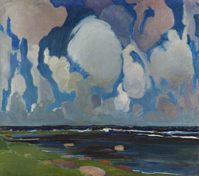 """Konrad Krzyżanowski """"Chmury w Finlandii"""", 1908 rok, źródło: Muzeum Narodowe w Krakowie"""