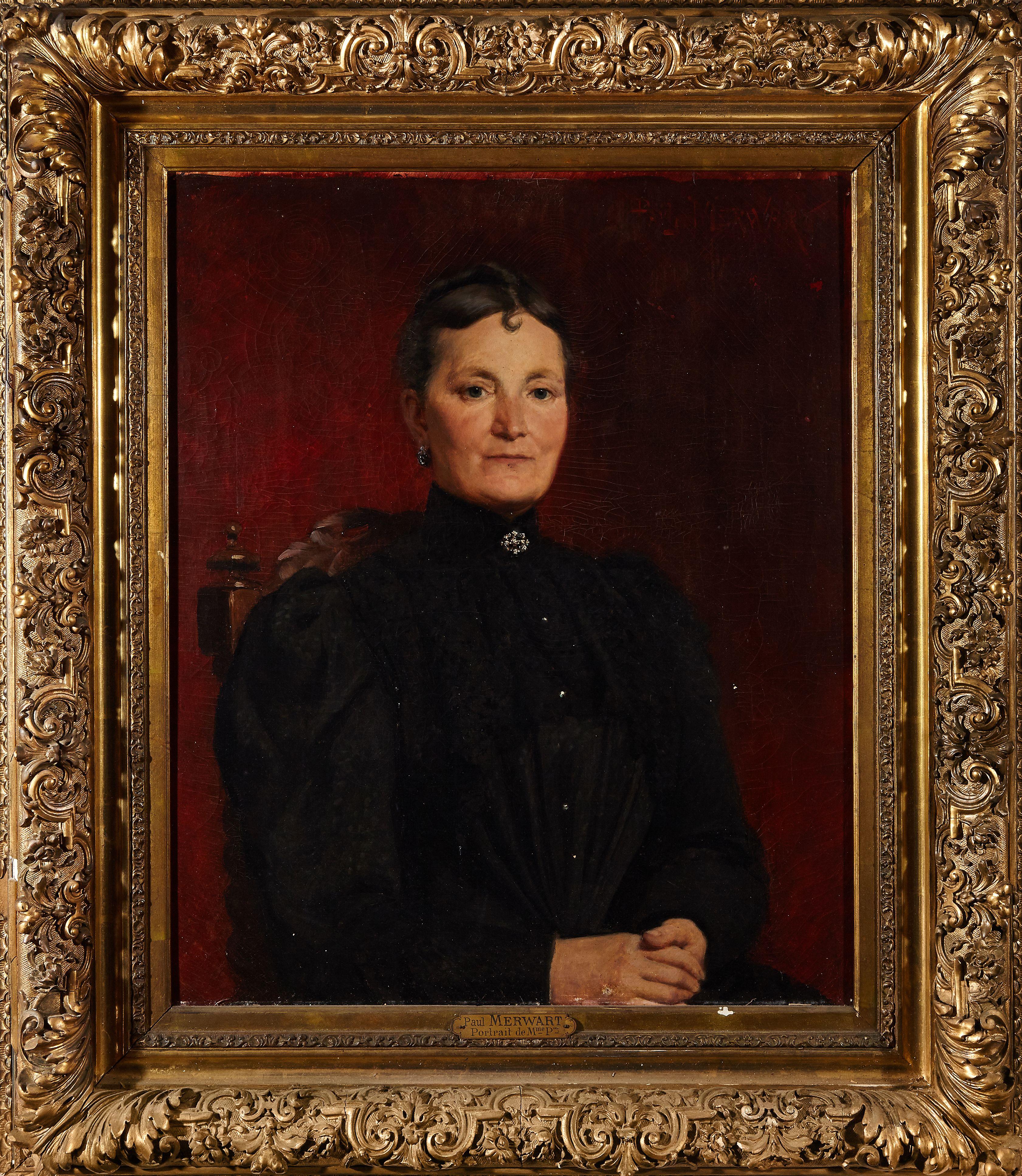 "Paweł Merwart (1855-1902) ""Portret Pani P."", źródło: Côte Basque Enchères"