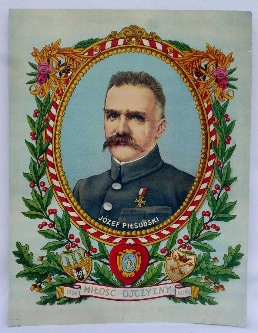 Józef Piłsudski - 2 litografie z wizerunkiem Marszałka, źródło: Artisans