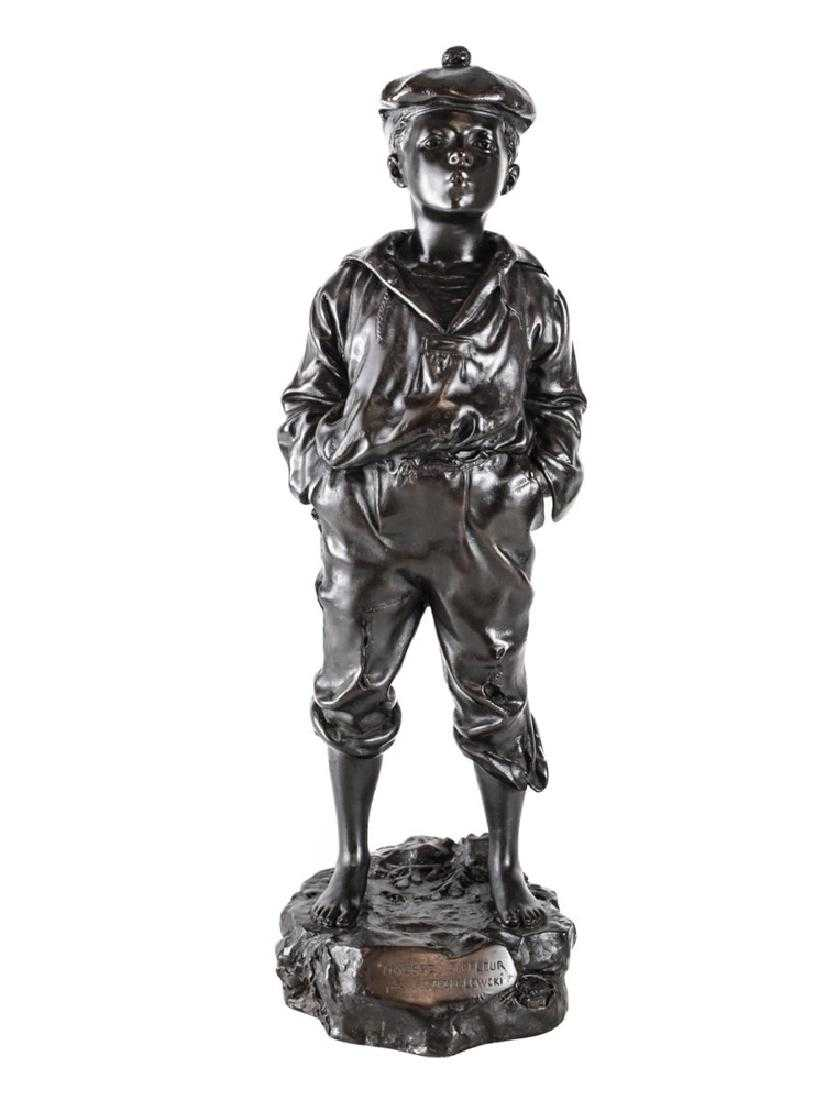 """Victor Szczeblewski (XIX wiek) """"Gwiżdżący chłopiec okrętowy"""", źródło: Taylor & Harris"""