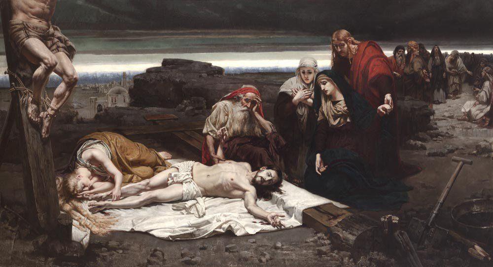"""Józef Unierzyski """"Zdjęcie z krzyża"""", źródło: Muzeum Narodowe w Krakowie"""