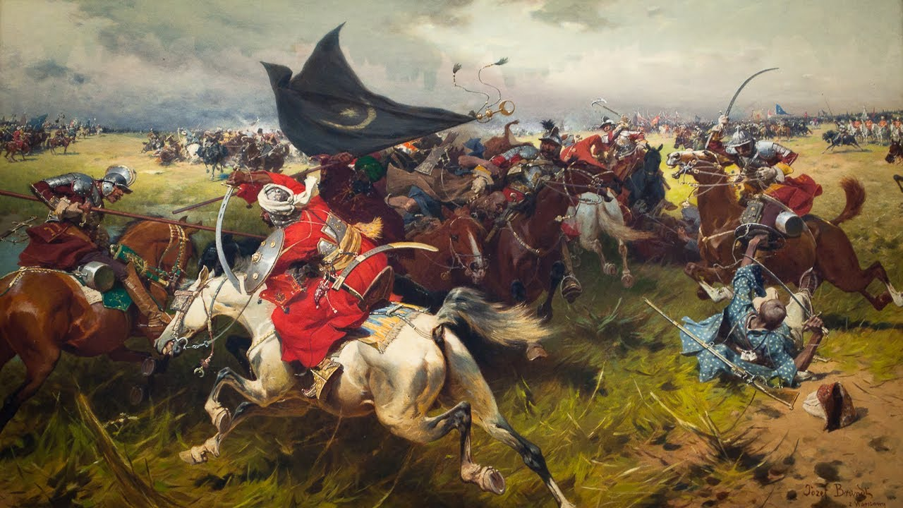 """Józef Brandt """"Walka o sztandar turecki"""", ok. 1905, źródło: Muzeum Narodowe w Krakowie"""