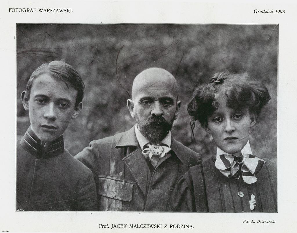 Jacek Malczewski z dziećmi, 1908 rok