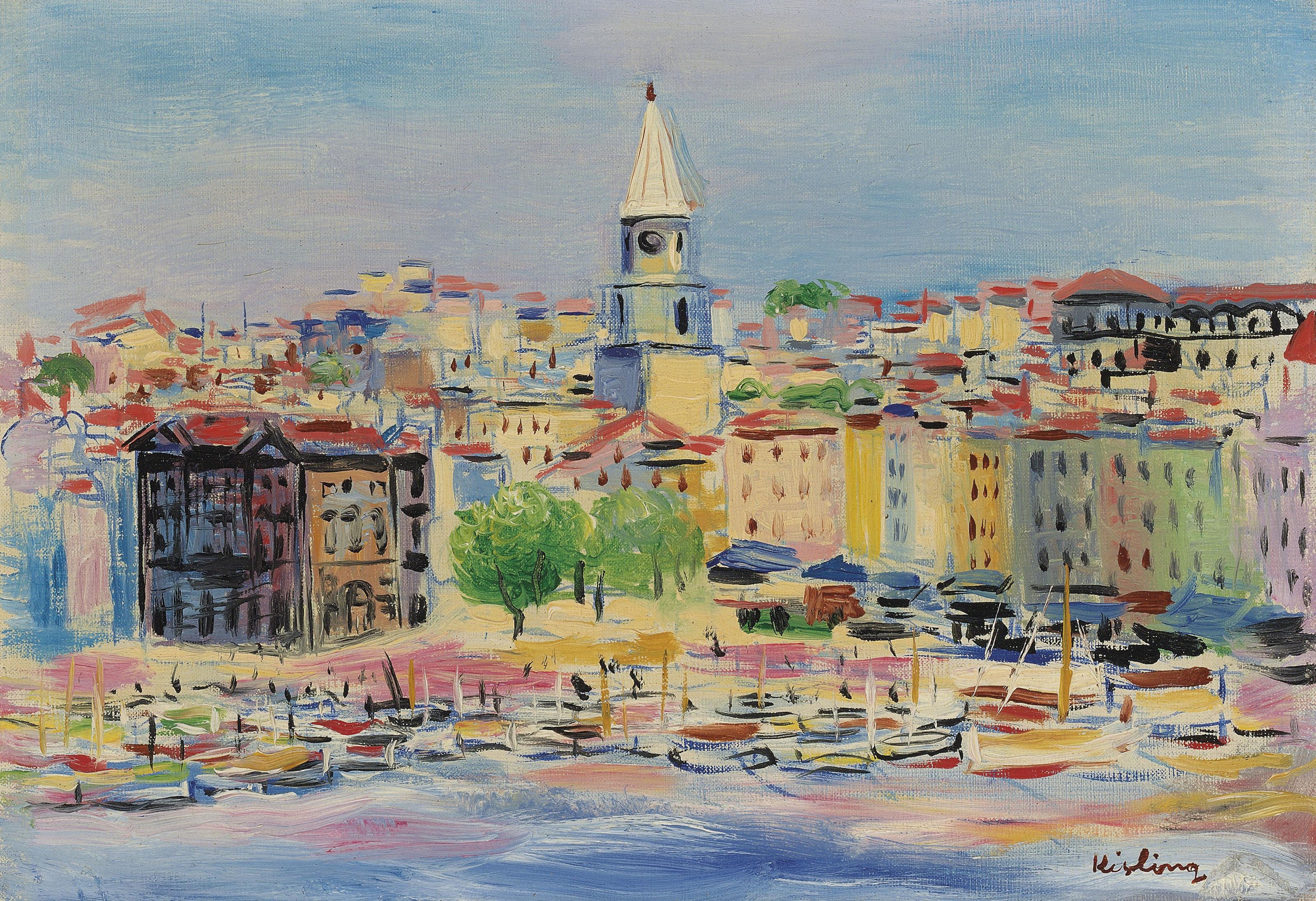 """Mojżesz Kisling """"Port w Marsylii"""", źródło: Christie's"""