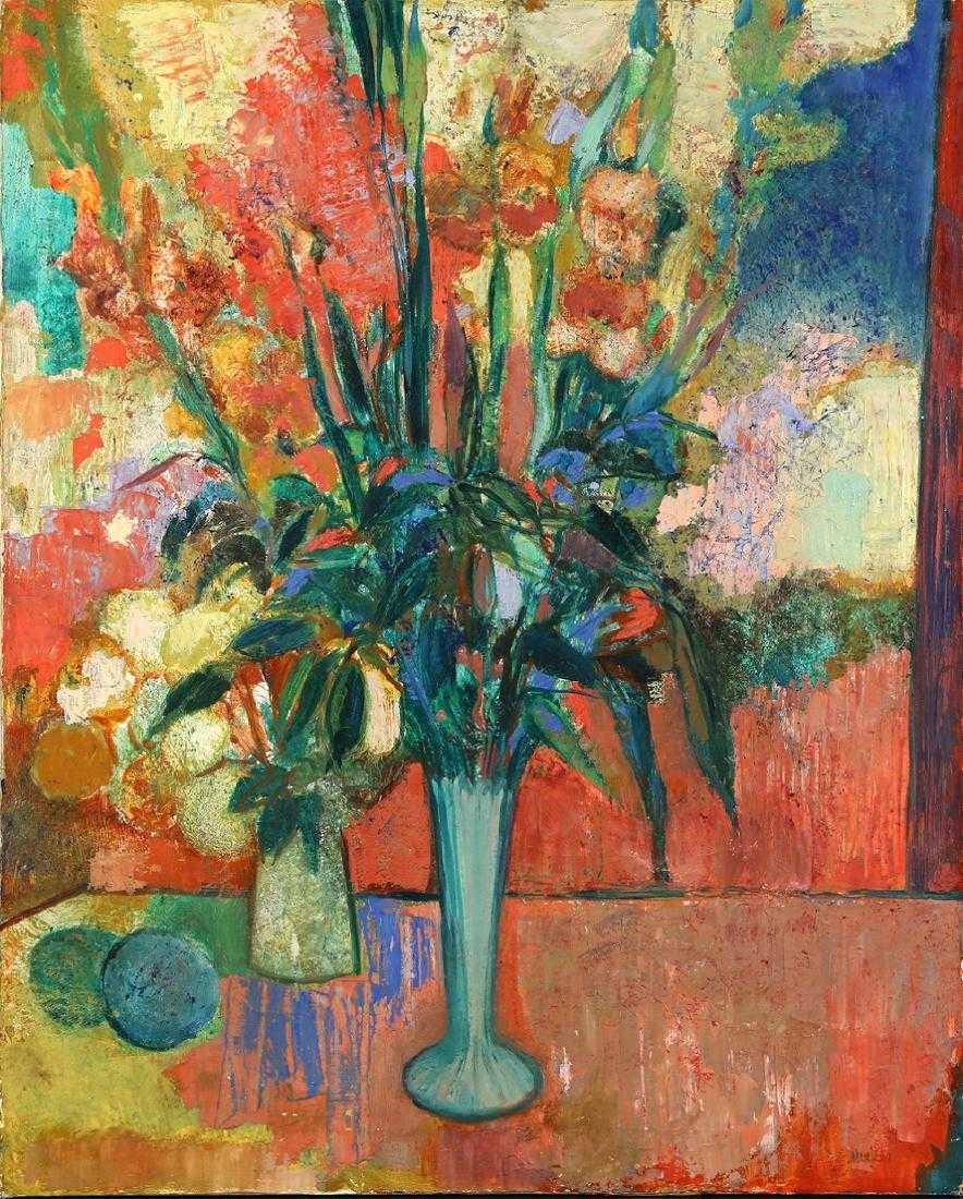 """Zygmunt Menkes (1896-1986) """"Kwiaty w wazonie"""", źródło: Trinity International Auctions"""