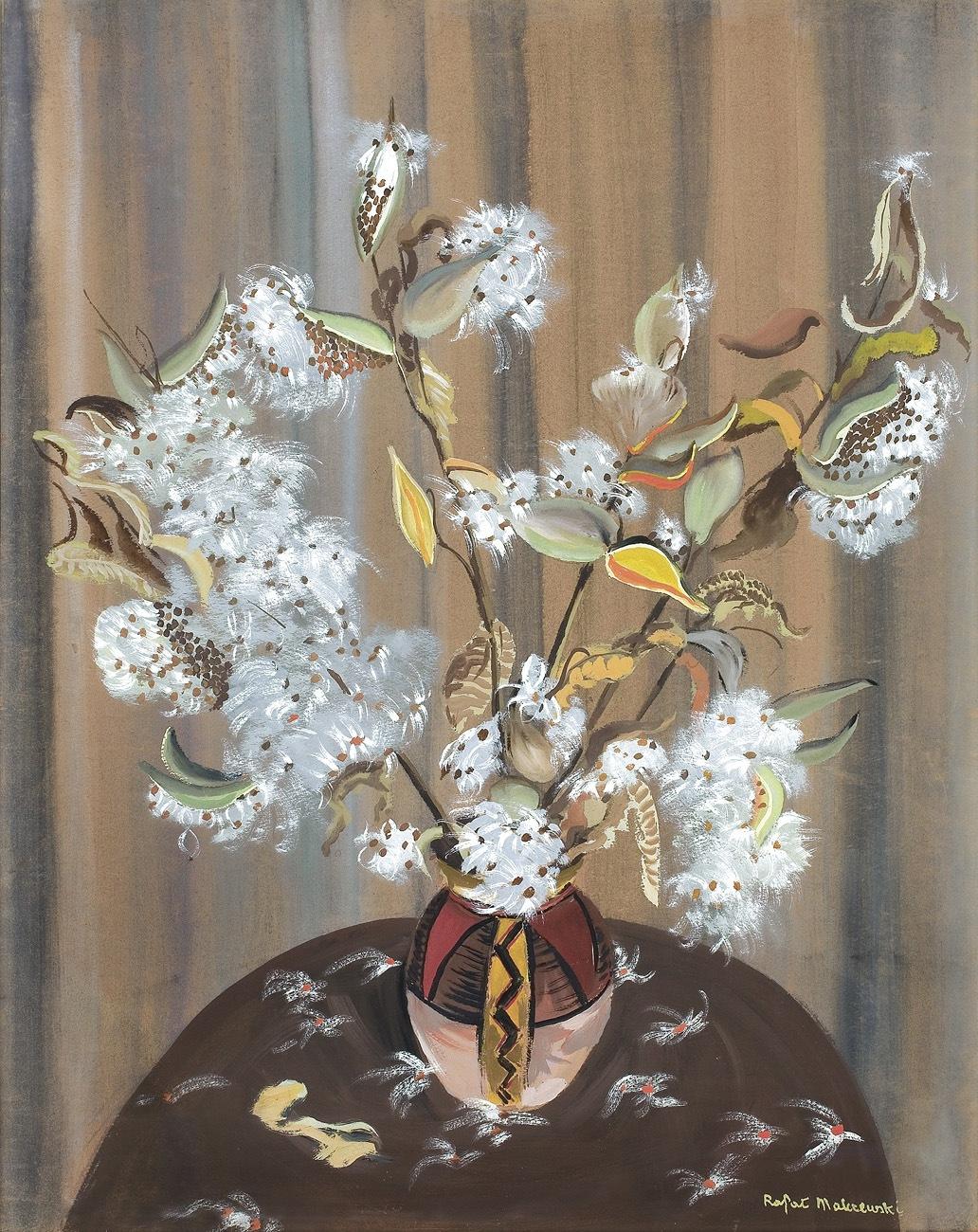 """Rafał Malczewski """"Kwiaty"""", ok. 1950-1956 roku, źródło: Agra Art"""