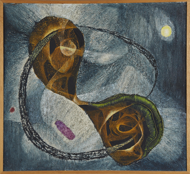 """Zdzisław Stanek (1925-1996) """"Słońce III"""", źródło: Stockholms Auktionsverket"""