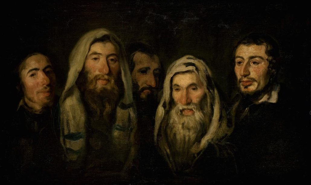 """Piotr Michałowski """"Żydzi"""", źródło: Muzeum Narodowe w Krakowie"""