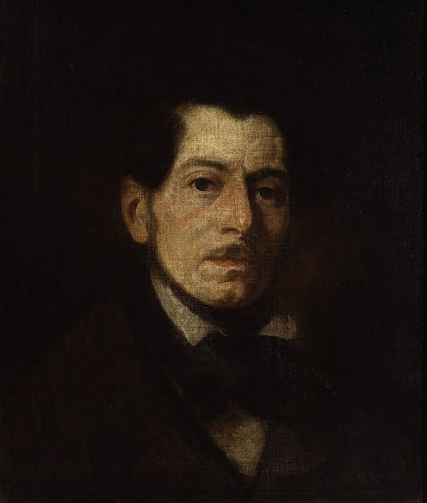 """Piotr Michałowski """"Portret własny artysty"""", źródło: Muzeum Narodowe w Warszawie"""