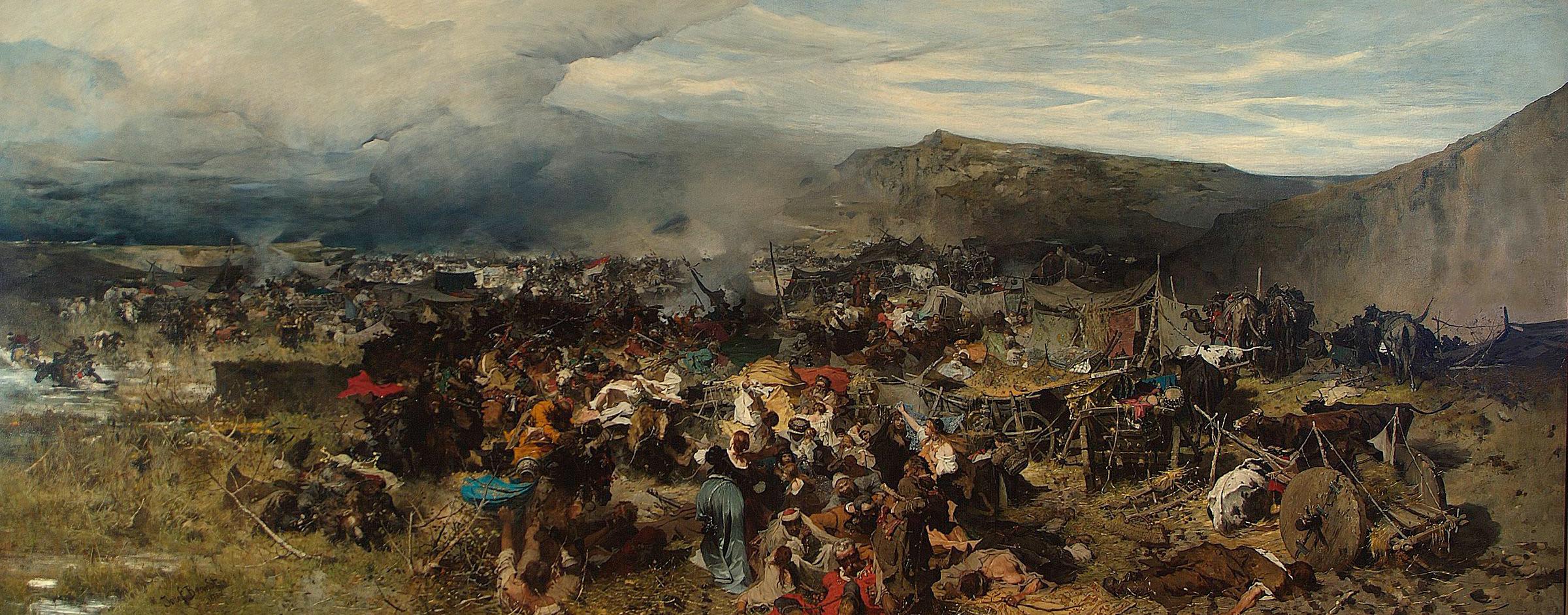 """Józef Brandt """"Odbicie jasyru"""", 1878 rok, źródło: Muzeum Narodowe w Warszawie"""