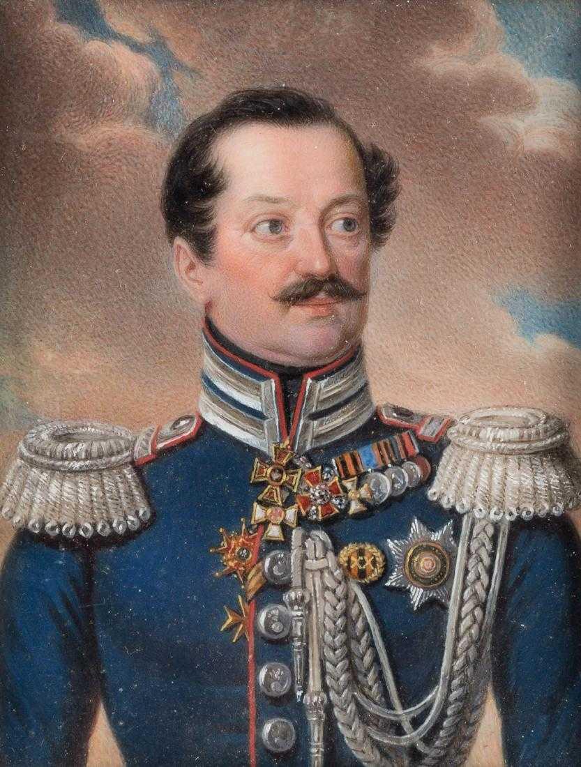 """Stanisław Marszałkiewicz (1798-1872) """"Portret Andreja Jakowlewicza Storogenko"""", źródło: Hargesheimer Kunstauktionen"""
