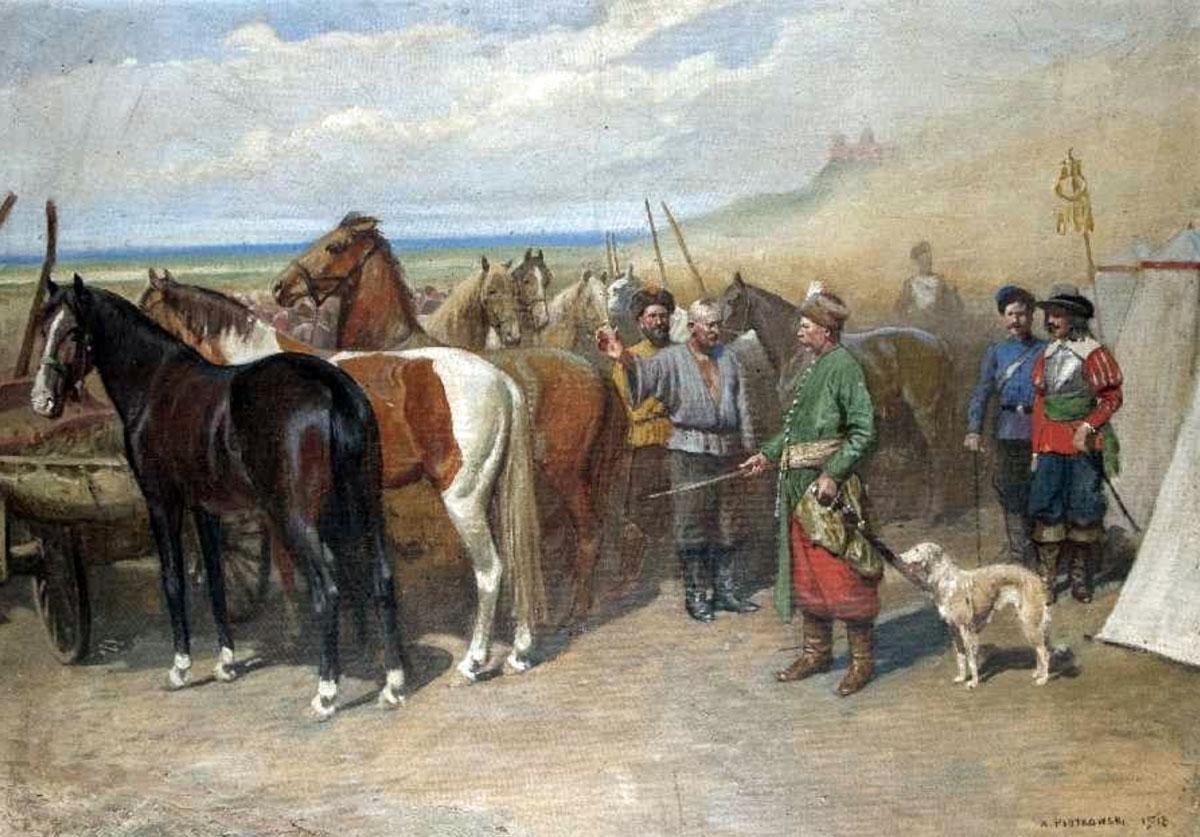 "Antoni Piotrowski (1853-1924) ""Handlarz koni"", źródło: Auktionshaus Peter Karbstein"