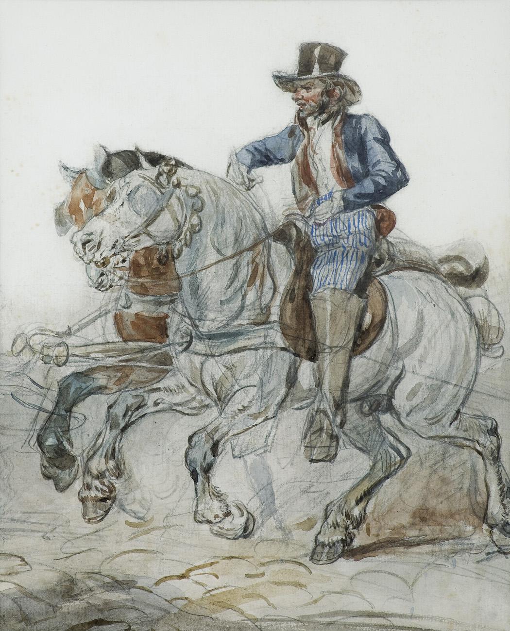 """Piotr Michałowski """"Pocztylion francuski"""", źródło: Agra-Art"""