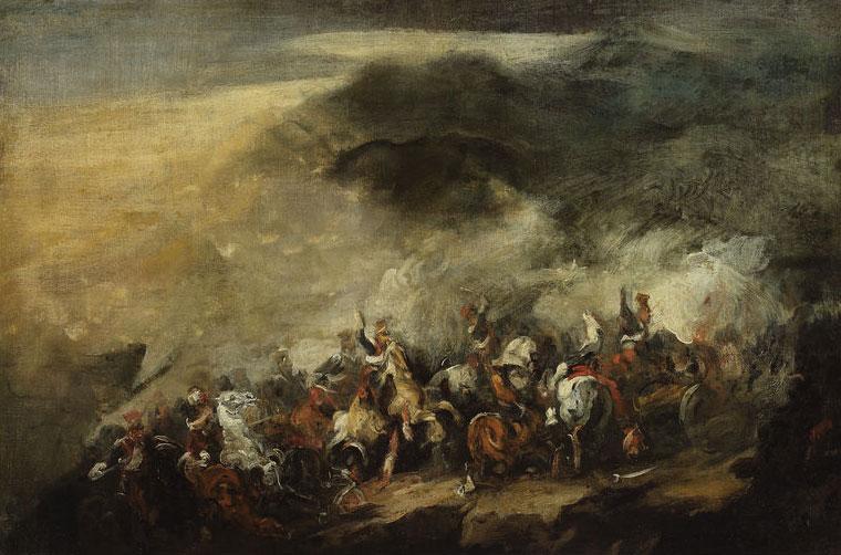 """Piotr Michałowski """"Bitwa pod Somosierrą"""", źródło: Muzeum Narodowe w Warszawie"""