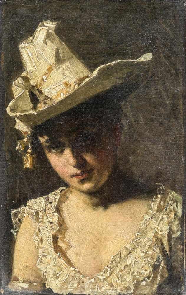 """Pantaleon Szyndler (1882-1945) """"Portret młodej dziewczyny"""", źródło: Leo Spik"""