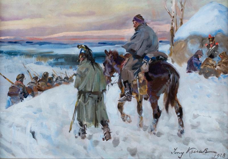 """Jerzy Kossak """"Powrót spod Moskwy"""", 1928 rok, źródło: Polswiss Art"""