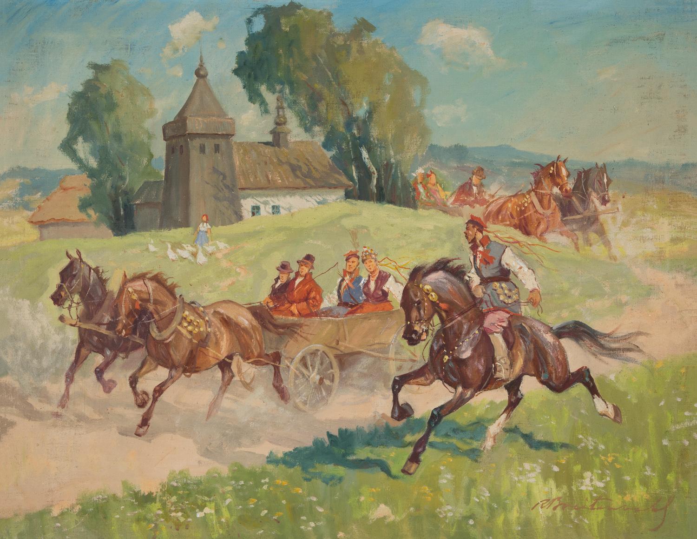"""Roman Breitenwald """"Wesele krakowskie"""", źródło: Salon Dzieł Sztuki Connaisseur"""