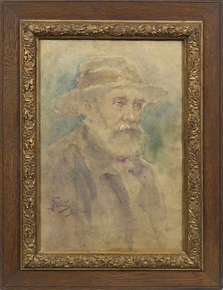 "Julian Fałat (1853-1929) ""Portret starca w kapeluszu"", źródło: Schloss Ahlden"
