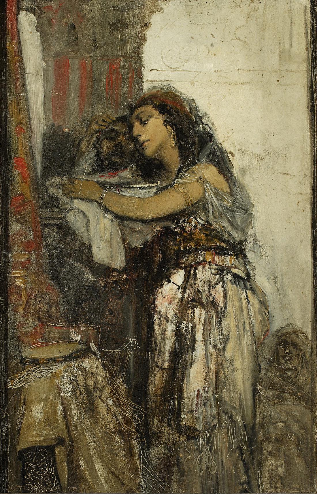 """Maurycy Gottlieb """"Salome z głową św. Jana"""", (szkic), źródło: Muzeum Narodowe w Warszawie"""