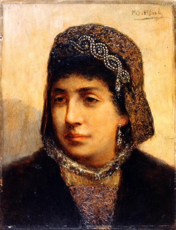 """Maurycy Gottlieb """"Portret żydowskiej narzeczonej"""", 1876-1877, źródło: Muzeum Izraela w Jerozolimie"""