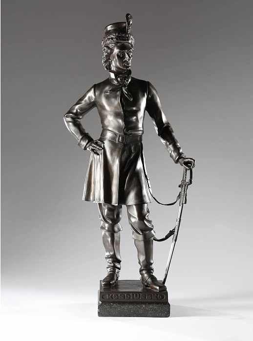 "David Pierre Jean d'Angers (1788-1856) ""Tadeusz Kościuszko"", źródło: Auktionshaus Carsten Zeige"