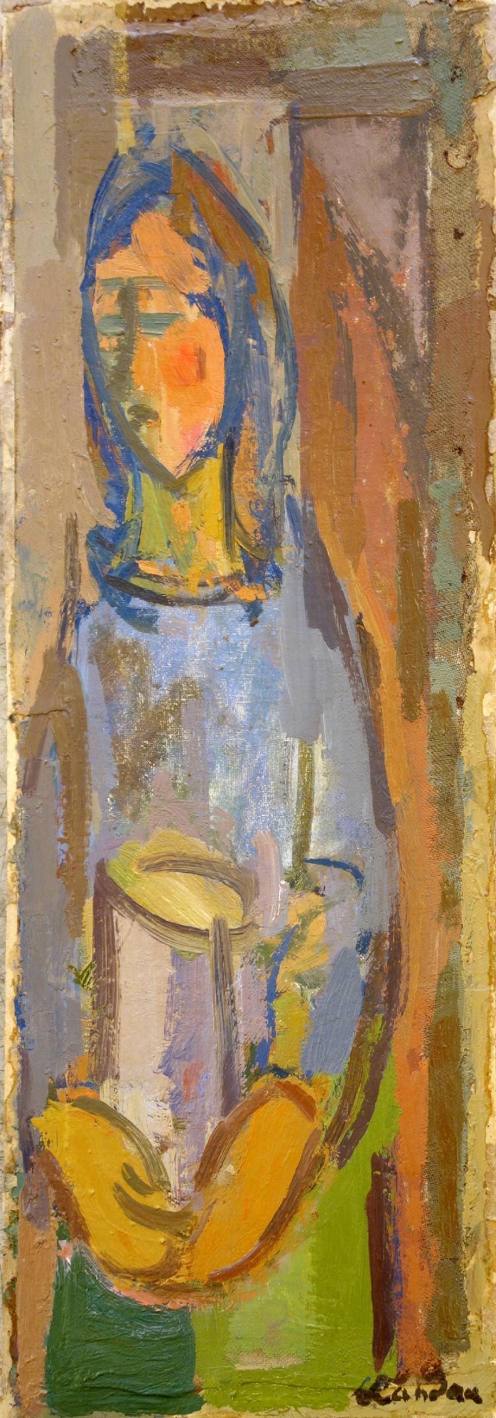 """Zygmunt Landau (1898-1962) """"Dziewczyna ze słoikiem"""", źródło: Yair Art Gallery"""