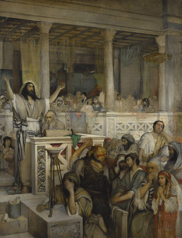 """Maurycy Gottlieb """"Chrystus nauczający w Kafarnaum"""", źródło: Muzeum Narodowe w Warszawie."""