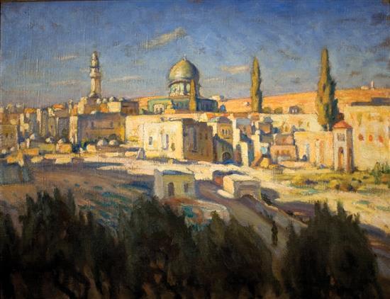 """Abraham Neumann (1873-1942) """"Jerozolima"""", źródło: Matsart"""