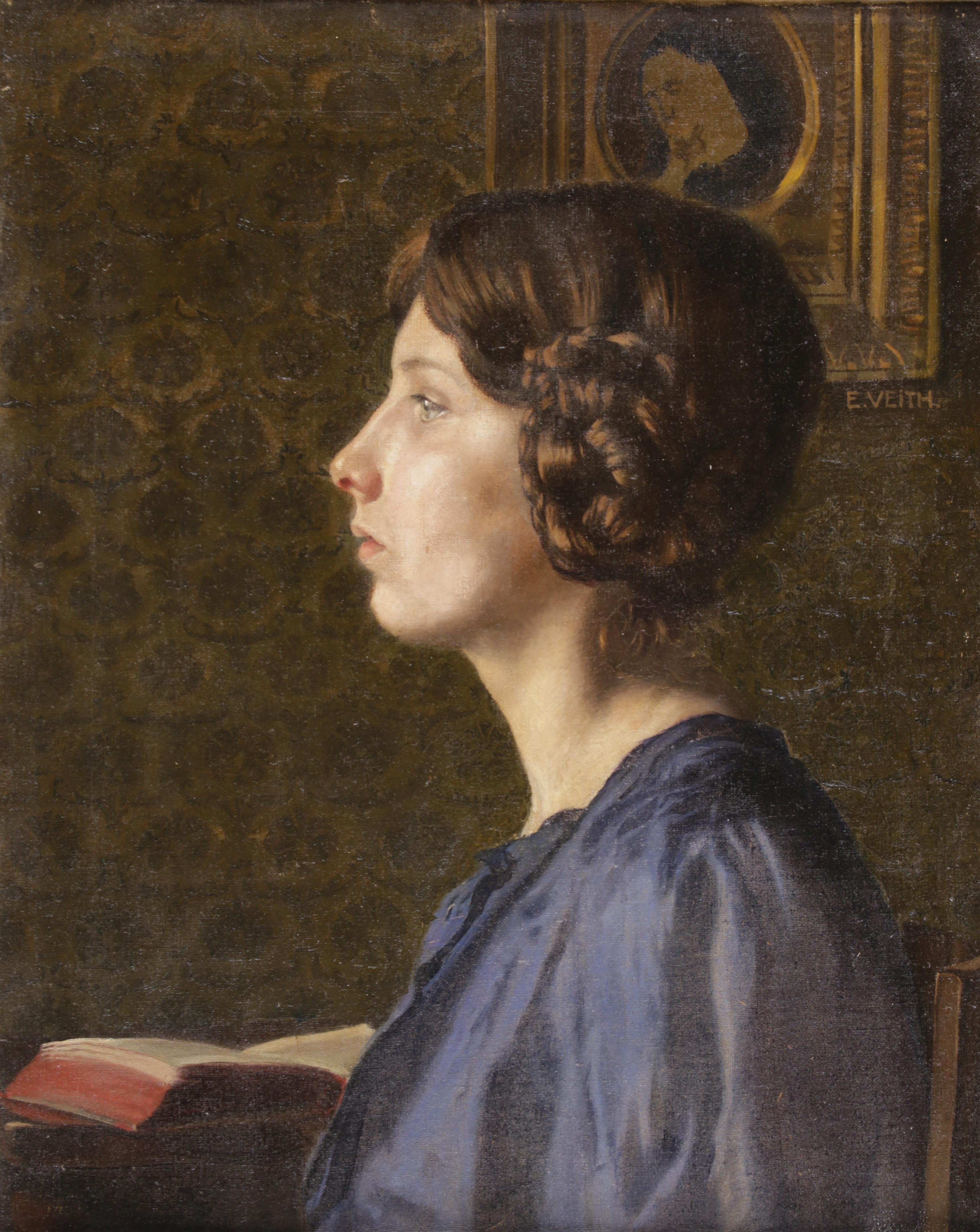 """Kazimierz Pochwalski (1855-1940) """"Portret młodej kobiety"""", źródło: Dorotheum"""