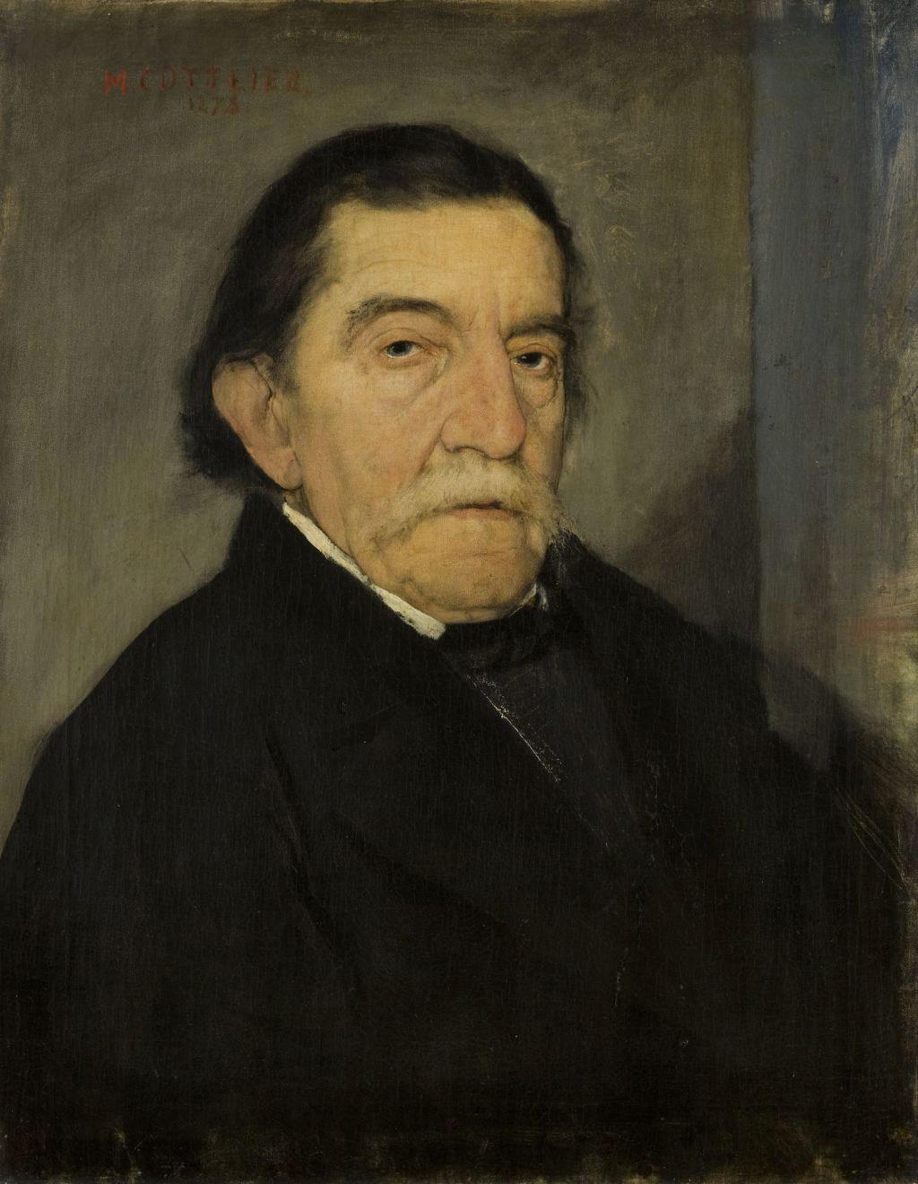 """Maurycy Gottlieb """"Portret Ignacego Kurandy"""", 1878 rok, źródło: Muzeum Narodowe w Krakowie"""