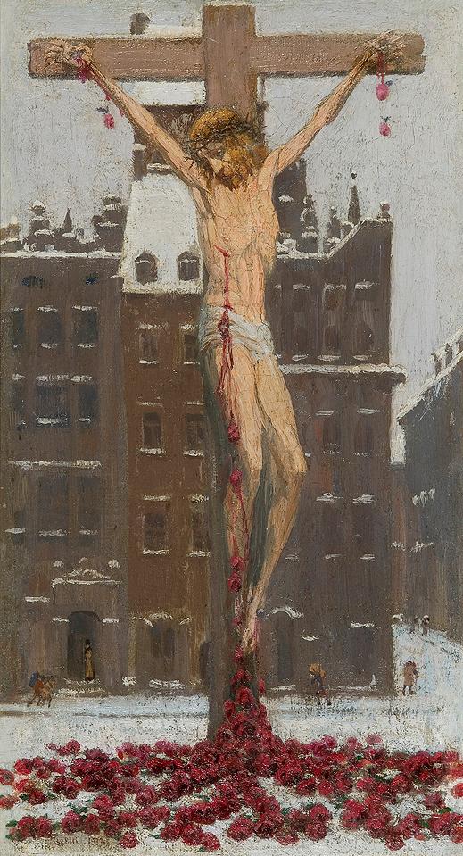 """Edward Okuń """"Chrystus śnieżny"""", źródło: Agra-Art"""