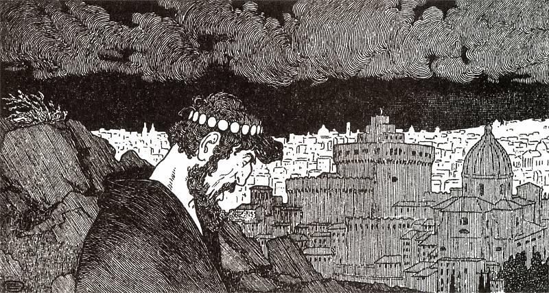 """Edward Okuń, """"Judasz"""" (ilustracja do wiersza Jana Kasprowicza)"""