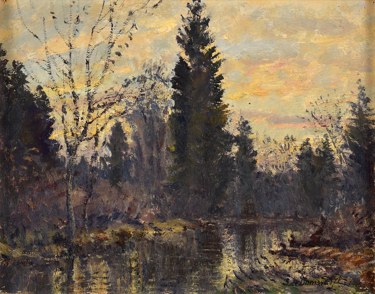 "Stefan Domaradzki (1897-1983) ""Leśny potok"", źródło: Düsseldorfer Auktionshaus"