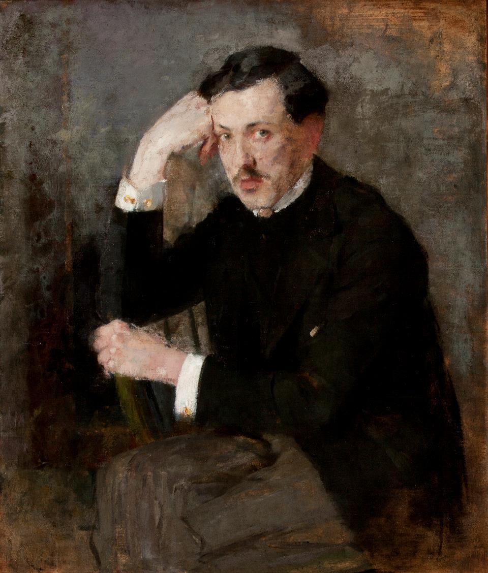 """Olga Boznańska """"Portret Józefa Czajkowskiego"""", 1894 rok, źródło: Muzeum Narodowe w Krakowie"""