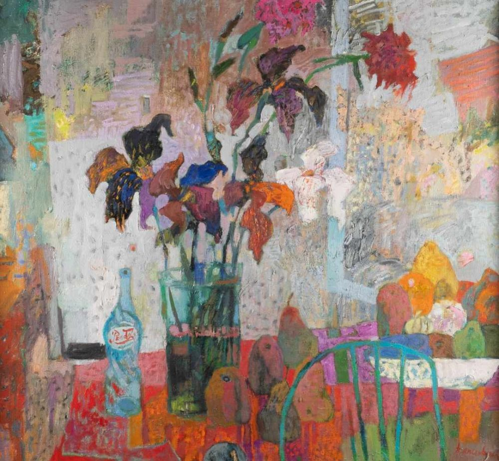 "Jan Szancenbach (1928-1998) ""Kwiaty"", źródło: Hargesheimer Kunstauktionen Düsseldorf"