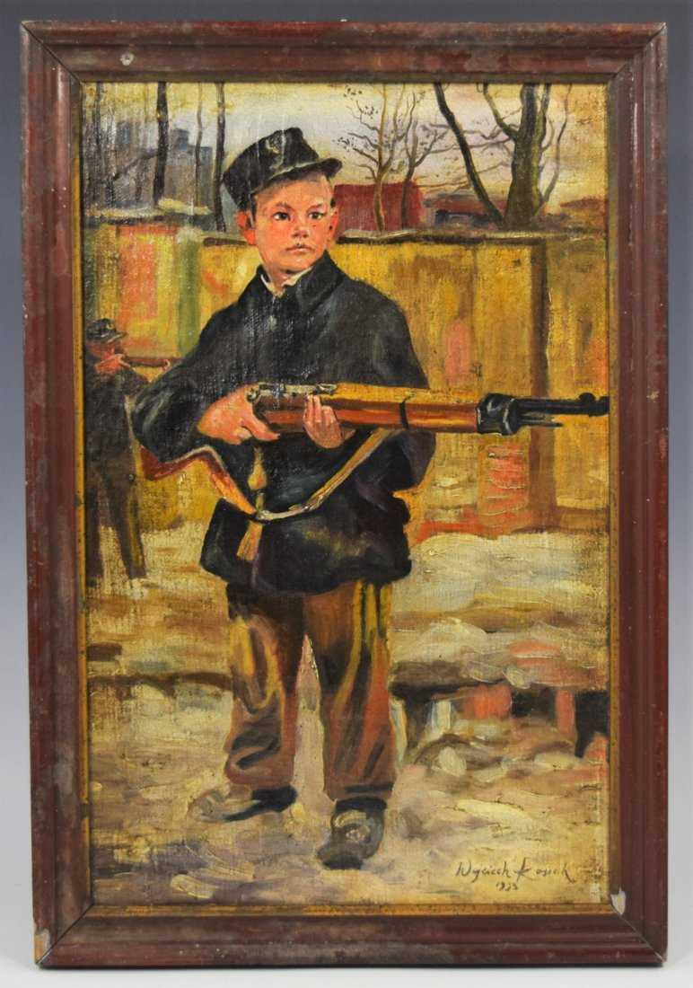 """Wojciech Kossak (1856-1942) """"Orlątko lwowskie"""", źródło: Black River Auction"""