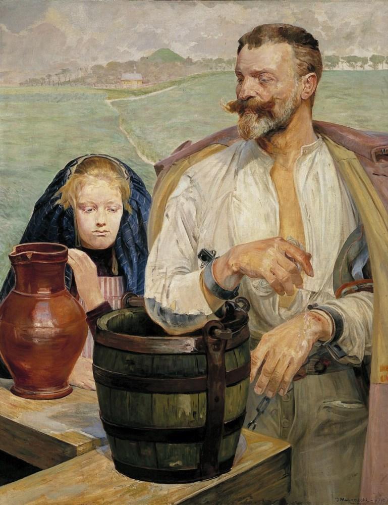"""Jacek Malczewski """"Zatruta studnia"""", 1905 rok, źródło: Muzeum Narodowe w Poznaniu"""
